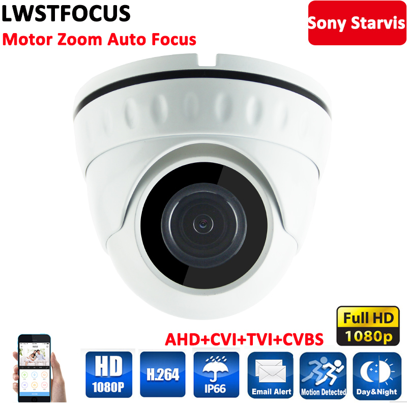 LWSTFOCUS 2MP HD-AHD/TVI /CVI 4 In 1 Sony CMOS 4X Optical Motorized Zoom 2.8-8mm Auto-Zoom & Auto-Focus IP66 1080P AHDH Camera free shipping new 2mp ir 120m 20x optical zoom ahd tvi cvi cvbs 4 in 1 ptz speed dome camera 1080p 2 megapixel 4 7 94mm