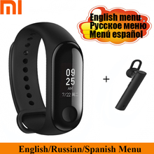 English Xiaomi Mi Band 3 Miband 3 Smart Band 0.78 OLED Touch Screen Support 5ATM Professional Waterproof Heart Rate Monitor