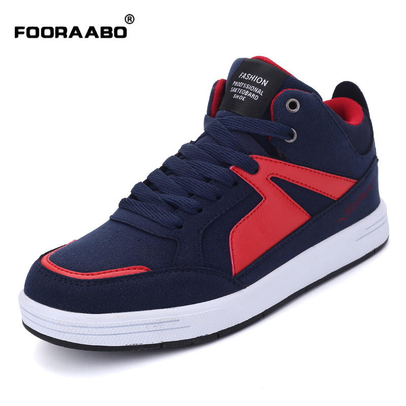 Hot Sale High Quality Men Shoes 2017 Spring Autumn High Top Man Casual Shoes Sapatos Male Fashion Suede Leather Flats Shoes hot sale 2016 top quality brand shoes for men fashion casual shoes teenagers flat walking shoes high top canvas shoes zatapos