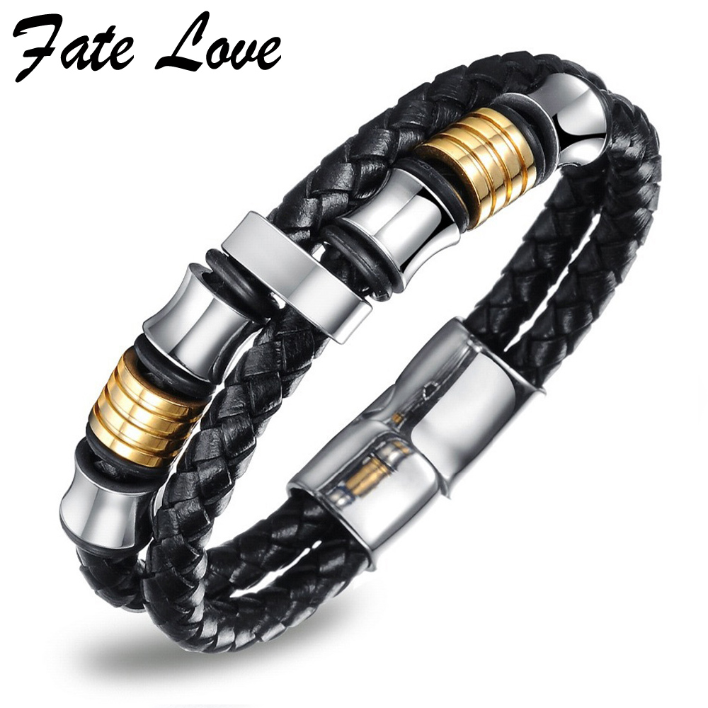 Fate Love Leather Bracelet Jewelry Mens Charms