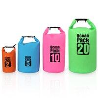 ПВХ 2L 5L 10L 20L Открытый Дайвинг сжатие хранения водонепроницаемая сумка для мужчин женщин плаванье рафтинг каяк