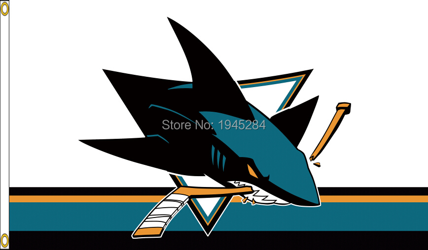 San Jose Sharks Flag Banner 003 New 3x5ft 90x150cm Polyester NHL 9632, free shipping
