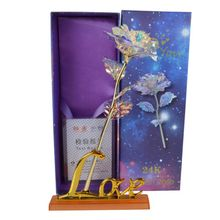 24K Gold Plated Golden Rose With Box Valentine's Day Gifts Mother's day Gift News