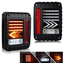 2Pcs Blinker LED Rückleuchten Umge Lampen Bernstein Pfeil Für Jeep Wrangler JK 2007 2017 Rücklicht Für jeep Warngler JK