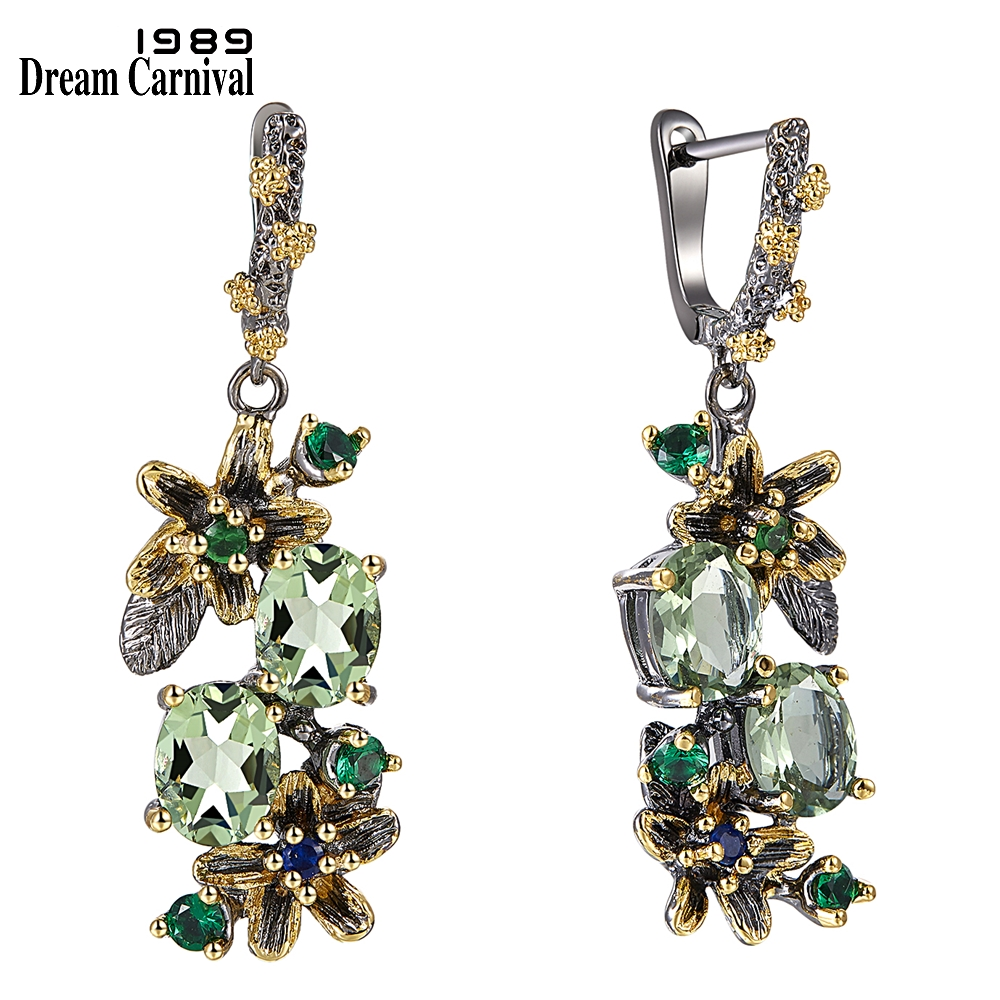WE3874 vintage luxury zirconia  drop earrings women (1)