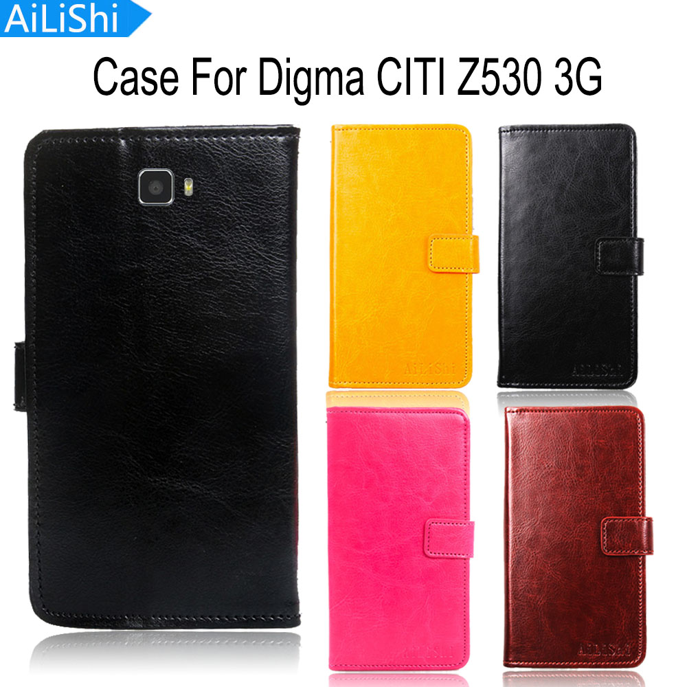 AiLiShi Leather Case For Digma CITI Z530 3G Case Hot Sale Flip Cover Phone Bag Wallet With Card Slot Tracking Number