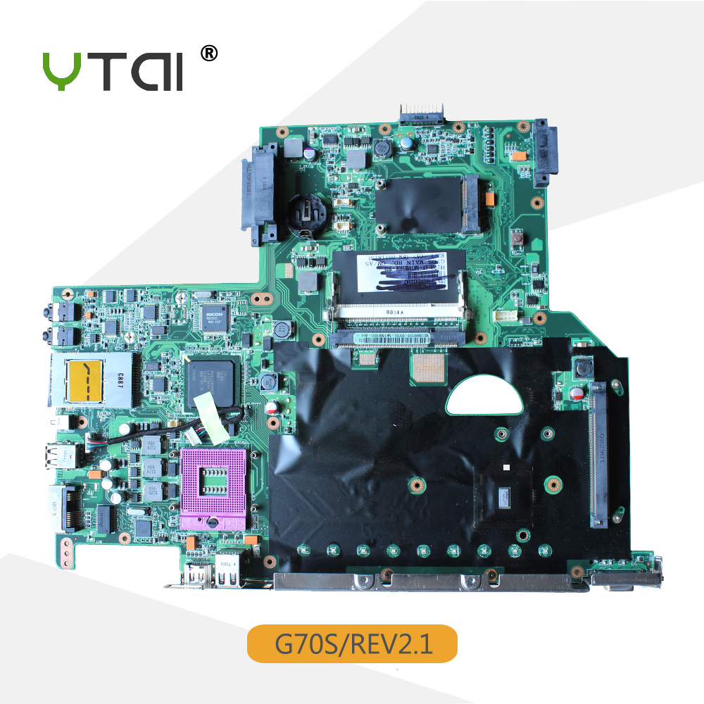 YTAI G70S mainboard for ASUS G70S laptop motherboard REV:2.1 P/N:08G2007GS21I DDR2