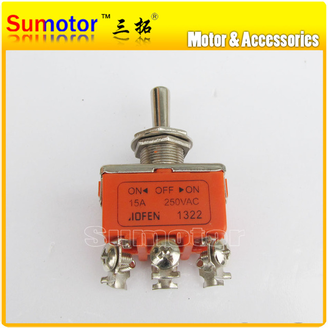 15A 250V Toggle Switch motor reversing Controller, reverse Rocker switches, 6-Pin 6 Screw Terminals DPDT ON-OFF-ON TK0263