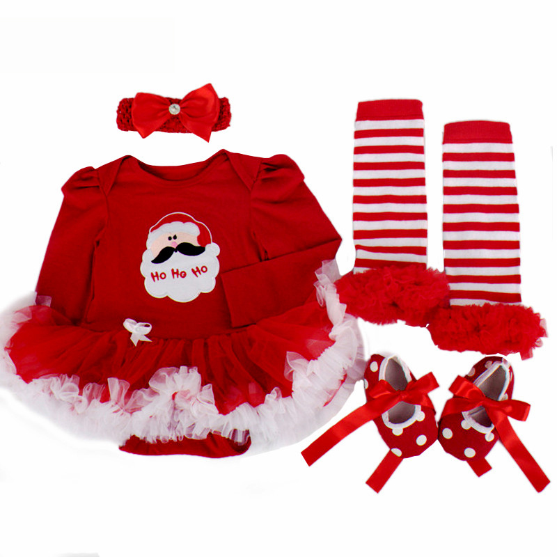 Fesstival Red Infant Baby Girls My 1st Christmas outfits Romper Jumpsuit Santa Tutu Skirt Dress Baby Girl Clothes for Party Wear sr039 newborn baby clothes bebe baby girls and boys clothes christmas red and white party dress hat santa claus hat sliders