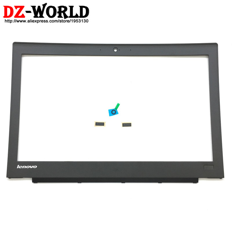 NEW Original for ThinkPad X240 X250 LCD Front Shell Bezel Cover with Model Indicator Camera Plate