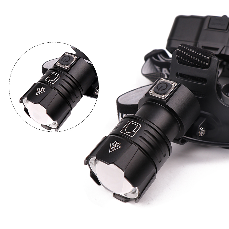 Image 3 - KZ20 Dropshiping 100000LM LED Headlamp XHP70.2 Power Headlight 3 Modes Telescopic Rechargeable Zoom Torch Waterproof Hunting-in Headlamps from Lights & Lighting