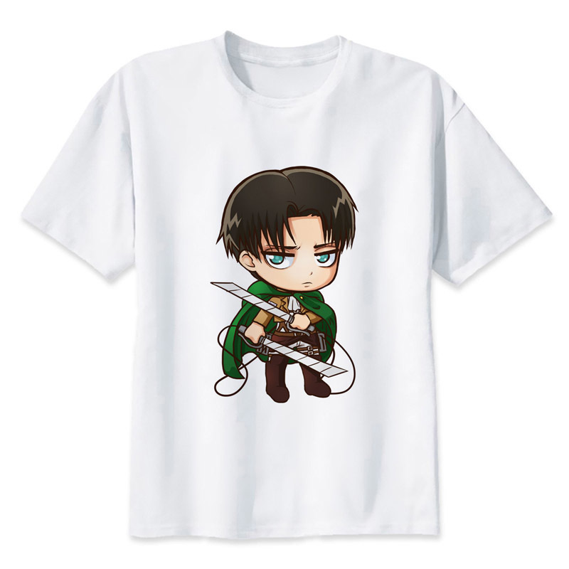 Attack On Titan  t shirt men Summer print T Shirt boy short sleeve with white color Fashion Top Tees MRR159