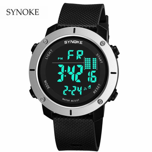 SYNOKE brand Sport Watch Fashion Multi-Function 50M Waterproof Men's Watch Busin