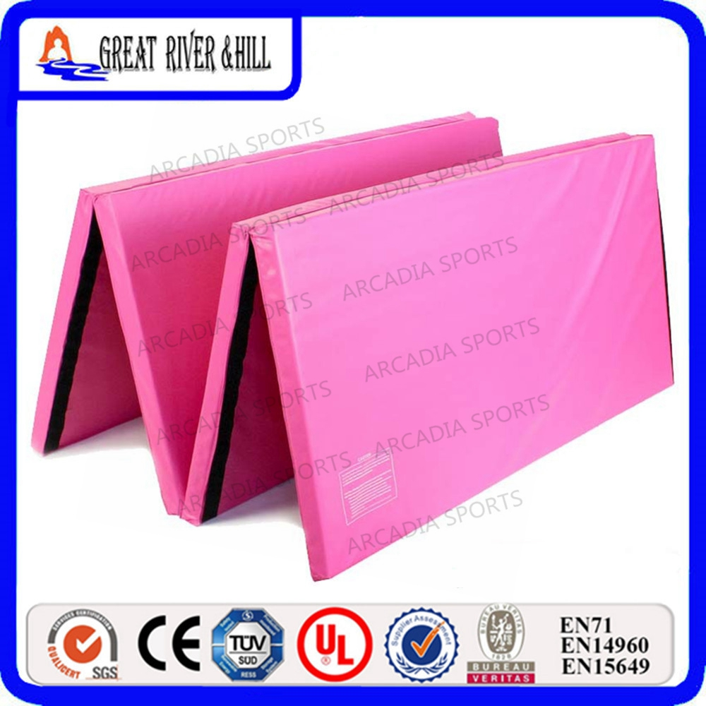 Gymnastics Tumbling Exercise Folding Mats with Hook and Loop 2.4mx1.2mx3cmGymnastics Tumbling Exercise Folding Mats with Hook and Loop 2.4mx1.2mx3cm