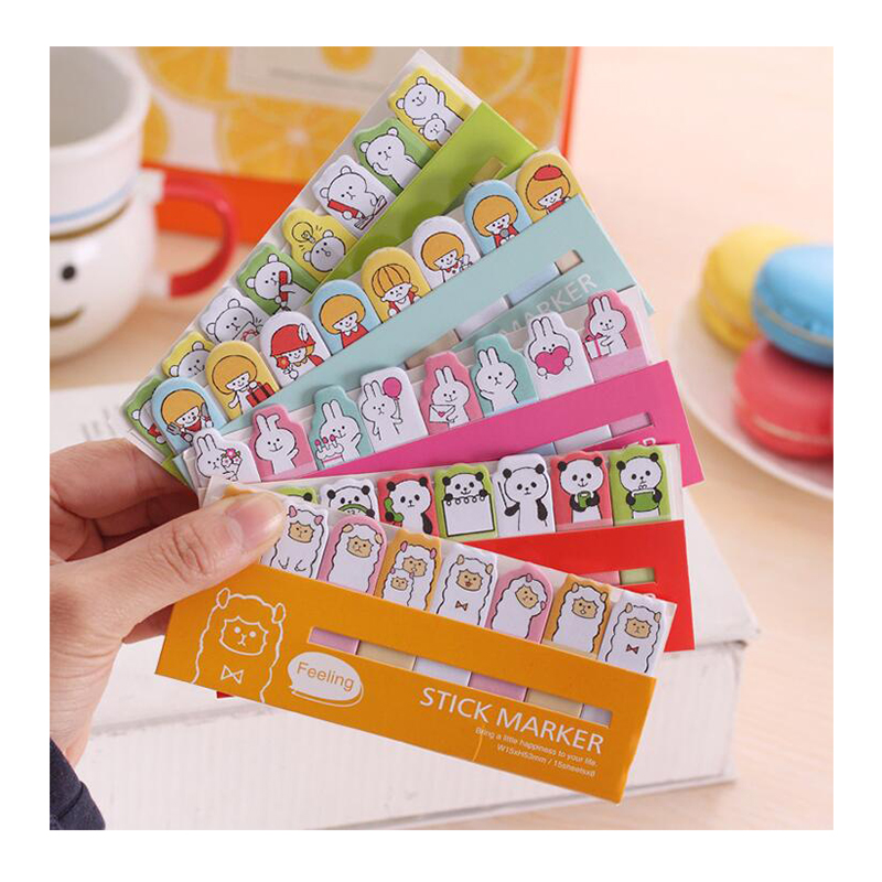 1Pc Cute Kawaii Sticky Notes Lovely Animal Girl Mini Memo Pad School Supplies Planner Stickers Paper Bookmarks Korean Stationery