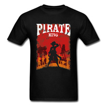 One Piece T-shirt Men Red Dead Redemption 2 Tshirt Luffy Pirate King T Shirts Captain Pokemon Pikachu 3D Cartoon Tops Funny Tees цена и фото