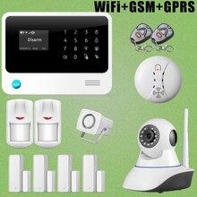 Chuangkesafe G90B GSM GPRS WiFi Alarma Sirena Atada Con Alambre + HD Cámara IP Sensor de Humo