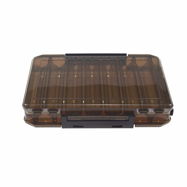 14 Compartments 27*18*4.7CM Fishing Tackle Double Sided Plastic Fishing Lure Box