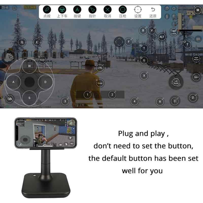 電話ゲームパッドの Usb ios PUBG コントローラーゲームパッド android Pc の Bluetooth USB キーボードマウス変換