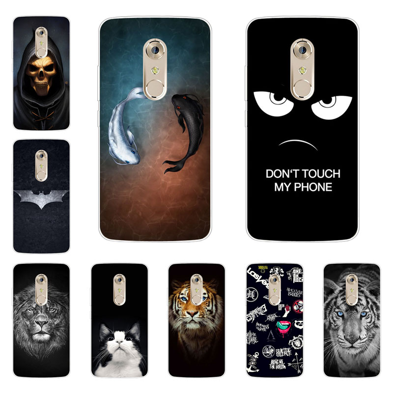 Zte Axon 7 case,silicon Gossip fish Painting Soft TPU Back Cover for Zte Axon 7 protect Phone shell