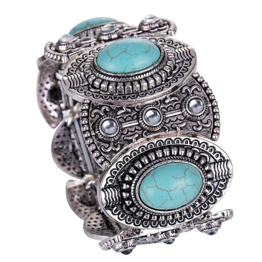9425a8dfee30 Nuevos BRAZALETES DE LA MANERA joyería de moda plata tibetana vintage brazalete  pulsera para las mujeres