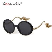 Хорошая победа солнцезащитные очки Для женщин Роскошные Брендовая дизайнерская обувь круглый винтажные Ретро очки солнцезащитные очки для женщин женские темные очки kadin gozluk