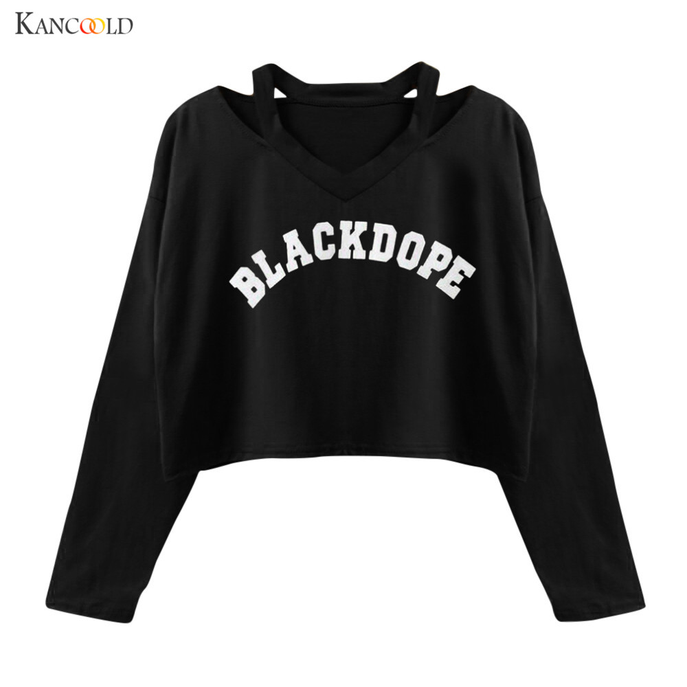 Chic Women Hoodies 2017 Spring Autumn Women Fashion Letter Print Cropped hoody Hoodies For Women Sweatshirts Svitshot bts se212