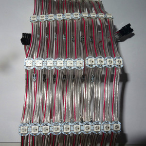 Image 2 - 100pcs/string DC5V WS2812B addressable rgb full color pixel light;5cm wire spacing;with transparent wire