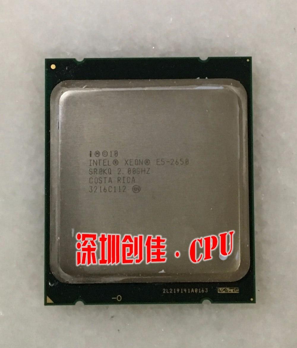 המקורי INTEL XEON E5-2650 SR0KQ C2 8GT מעבד 8 CORE 2.0 GHz 20 M/s 95 W מעבד E5 2650