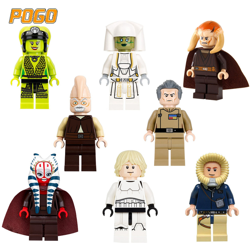 POGO Star Wars Legoings Marvel Figures Movie Figure Building Blocks 2018 Leia Han Solo Models Bricks Toys For Children Gifts