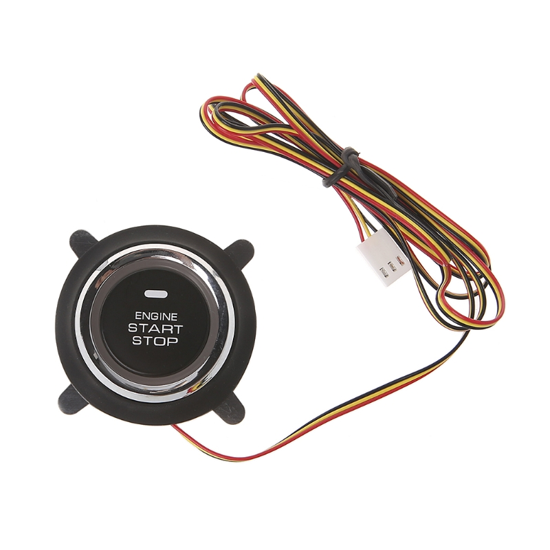 新しい高品質 1 pc dc 12 v 自動車エンジンプッシュスタートボタン pke スマートキープッシュボタンスタートオートバイアラーム -