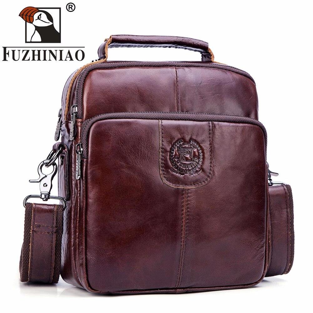 FUZHINIAO NEW Brand Business Briefcase Handbags Genuine Leather Men Crossbody Bags For Fashion High Quality Messenger Travel Bag soft line трусы в сеточку