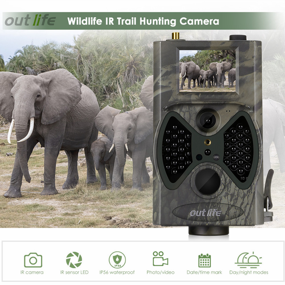 Outlife HC300M Digital Trail Camera MMS SMS 12MP 1080P 40pcs Infra LEDs 940nm Night Vision Hunting