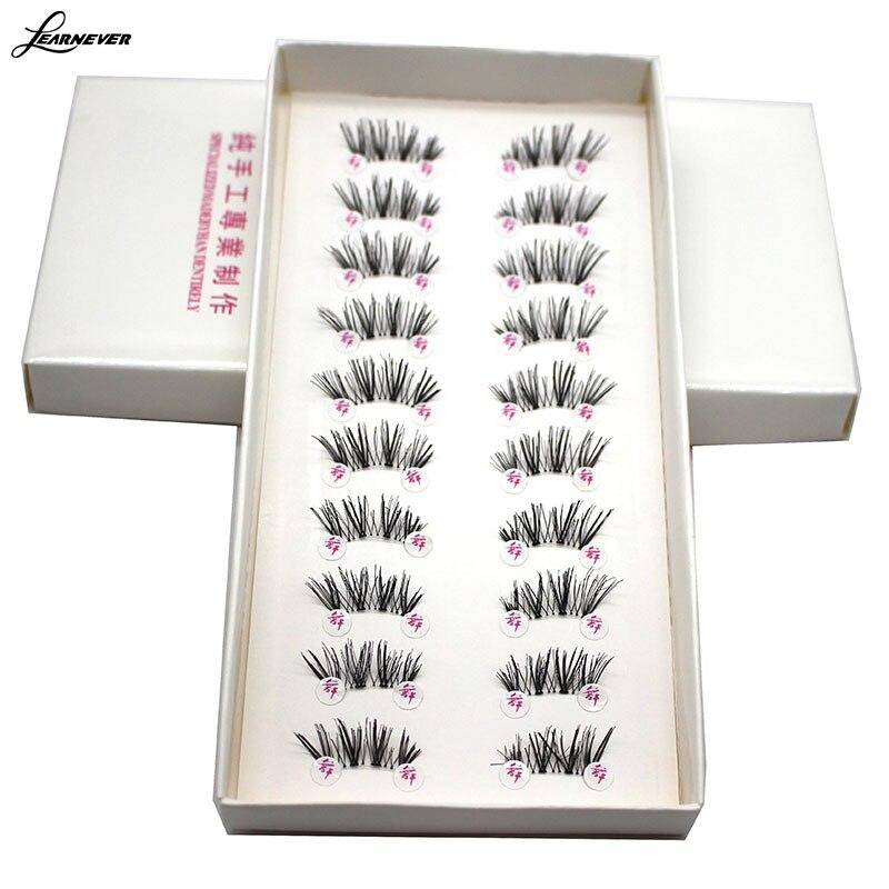 Image 3 - LEARNEVER NEW 10 Pairs HALF/MINI/CONER WINGED CROSS False eyelashes SOFT eye lashes  M02679-in False Eyelashes from Beauty & Health