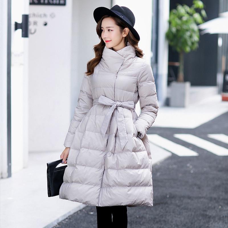 Outwear Réglable Le Black Vêtement Cadeau 2018 Femmes Vers Manteau Taille A ligne Bas Femme grey Arrivée Long D'hiver Veste Nouvelle red I6S6nPp