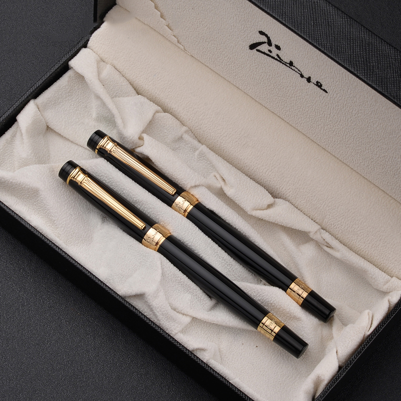2pcs Pimio 917 Gold/Silver Clip Rollerball Pen Fountain Pen for Lover High Quality Gift Pens with An Original Gift Box2pcs Pimio 917 Gold/Silver Clip Rollerball Pen Fountain Pen for Lover High Quality Gift Pens with An Original Gift Box