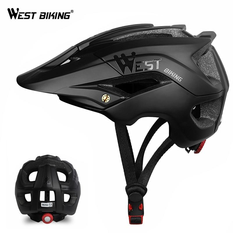 WEST BIKING Bicycle Helmet Trail XC MTB All-terrain Bike Helmet OFF-ROAD Casco Ciclismo Bicicleta Mountain Bike Cycling Helmet