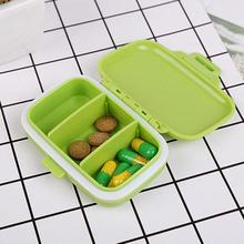 Portable Mini Pill Case Medicine Boxes 3 Grids Travel Home Medical Drugs Tablet Empty Container Home