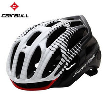 CAIRBULL 10 Colors Cycling Helmet Road Mountain In-mold Bicycle Helmet Ultralight Bike Helmet With Rear LED Warning Lights M/L
