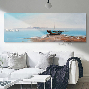 Home Beauty abstract Landscape oil painting hand painted canvas wall acrylic paint picture coloring snow cabin Home decoration
