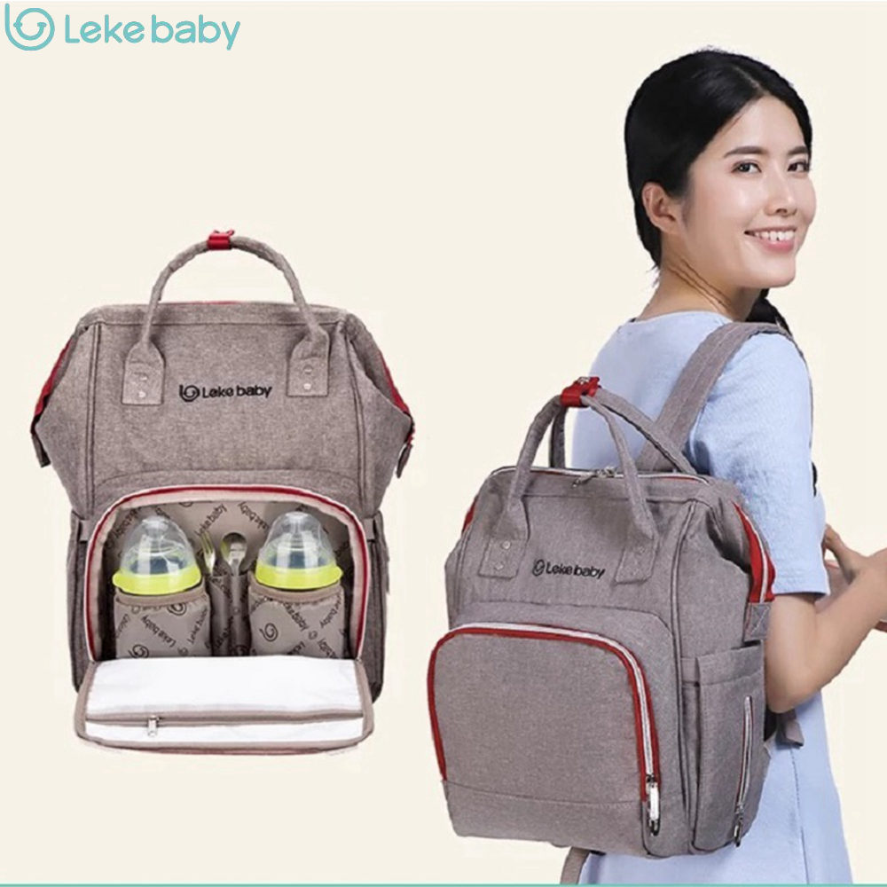 Lekebaby luiertas baby maternity mummy changing nappy diaper bag organizer backpack bags for mom mochila maternal maternidade brand high quality bolsa maternidade baby diaper bags baby nappy bags mummy maternity bag shoulder backpack
