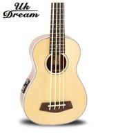 Professional 30 Inch Spruce Mahogany Wooden Guitar Musical Instruments U Bass Ukulele Small Guitar Classic 4