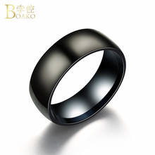 US $0.5 40% OFF|BOAKO Black Titanium Rings For Men Matte Finished Classic Engagement Anel Jewelry Women Wedding Bands Lover Couple Rings bague-in Wedding Bands from Jewelry & Accessories on Aliexpress.com | Alibaba Group