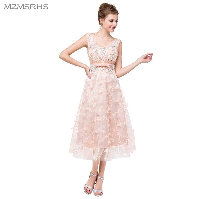 Weddings & Events MüHsam Neue Kurze Heimkehr Kleid 2017 Eine Linie V-ausschnitt Über Tee-länge Graduation Dresses Kurze Abschlussball-kleid-heiße