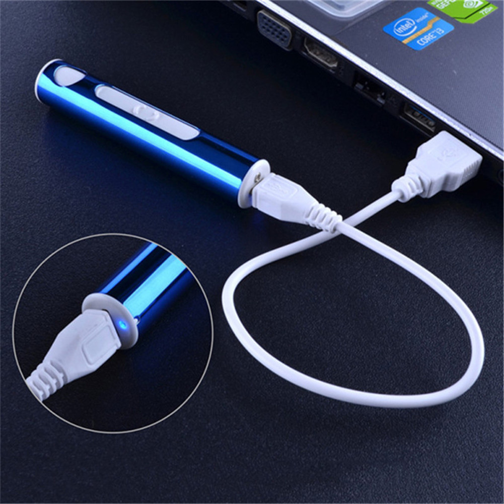 Mini Briquet Électrique Briquet d'Anti-vent Rechargeable USB