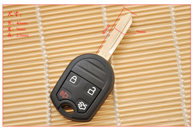 Buttons Replacement Remote Key Shell Case For Ford Edge Raptor Fob Key Cover Pcs