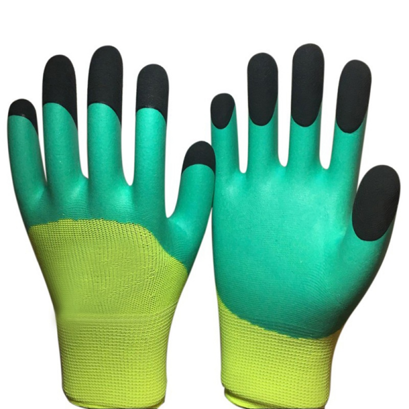 Breathable Nylon Latex <font><b>Garden</b></font> <font><b>Gloves</b></font> <font><b>Work</b></font> Builders Grip For Palm Coating Wear-resisting Non-slip Waterproof Safety <font><b>Gloves</b></font> image