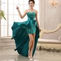 Asymmetrical Bridesmaid Dress 2016 Sweetheart Short Front Long Back Prom Dress Royal Blue vestido de festa robe de soiree