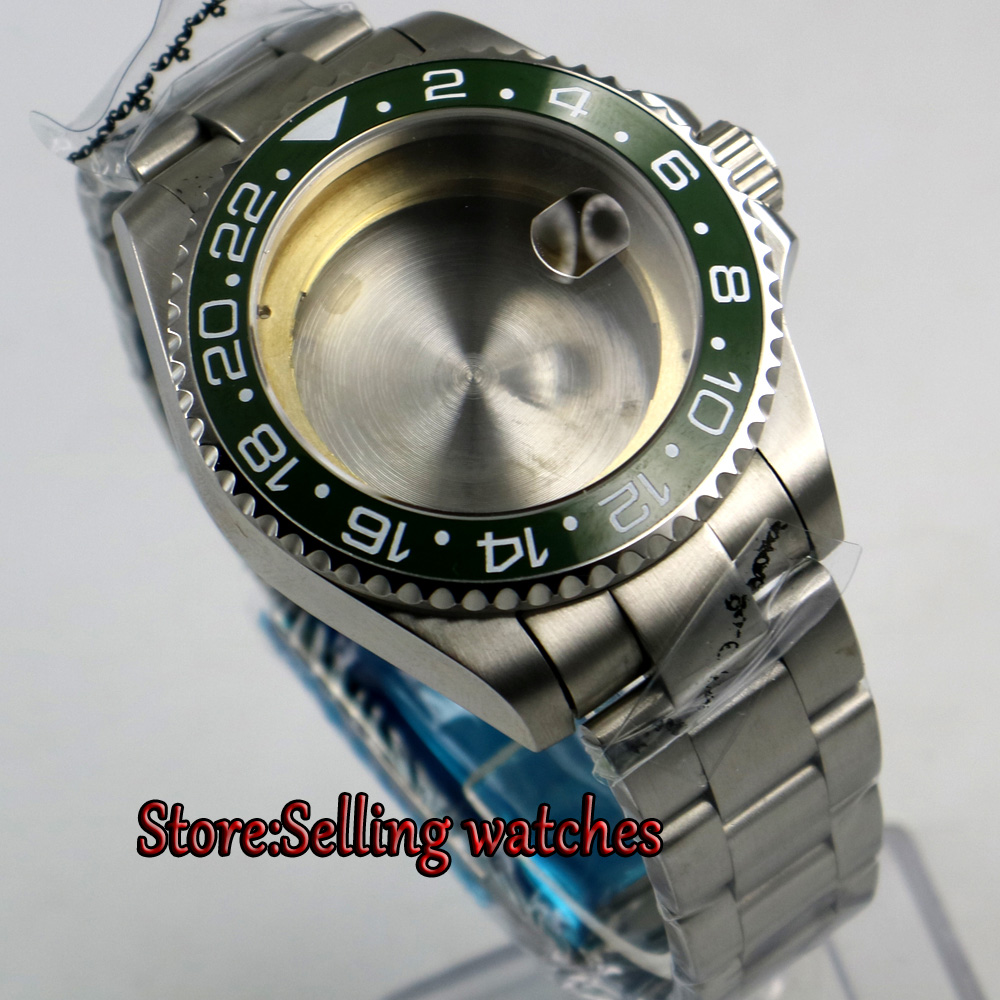 43mm sapphire glass caremci bezel Watch Case fit 2824 2836 MOVEMENT цена и фото