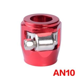 Image 3 - AN10クランプホースフィニッシャークランプ/クリップ10 apsアルミ合金燃料/オイル/ラジエーター/ゴム燃料油水パイプジュビリークリップクランプ